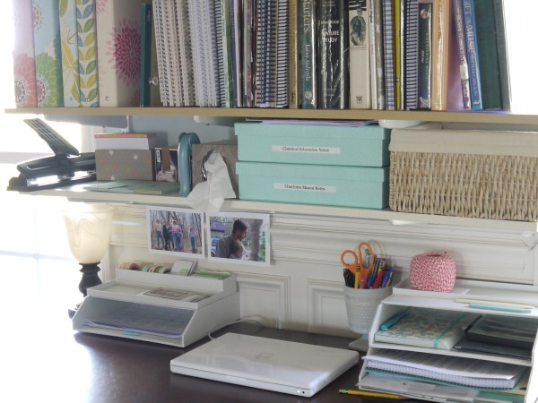 My desk. Sunny windows flanking me on either side, and all the tools and books I need at arms reach.